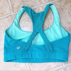 Lululemon blue racerback sports bra
